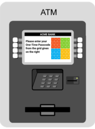 Retail Banking ATM with PINgrid