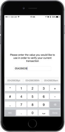 iPhone 7 PINgrid 3 Factor Authentication Transaction Signing